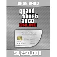 俠盜獵車手5 遊戲幣 1,250,000  序號卡 Grand Theft Auto Online: Great White Shark Cash Card - 1,250,000