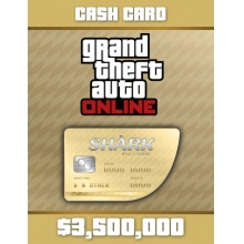俠盜獵車手5 遊戲幣 3,500,000  序號卡 Grand Theft Auto Online: Whale Shark Cash Card - 3,500,000