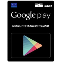 歐洲 EUR25 Google Play Gift Card 禮物卡序號 EU