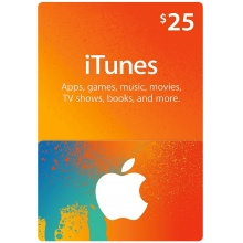 USD25 Apple iTunes Gift Card 禮物卡 US