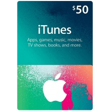 USD50 Apple iTunes Gift Card 禮物卡 US