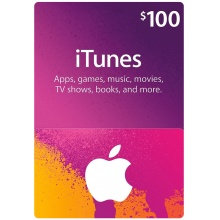 USD100 Apple iTunes Gift Card 禮物卡 US